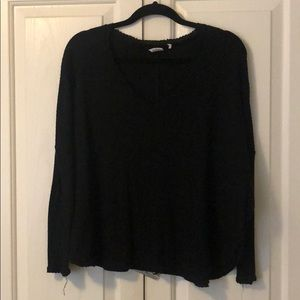Urban Outfitters Black V-Neck Sweater